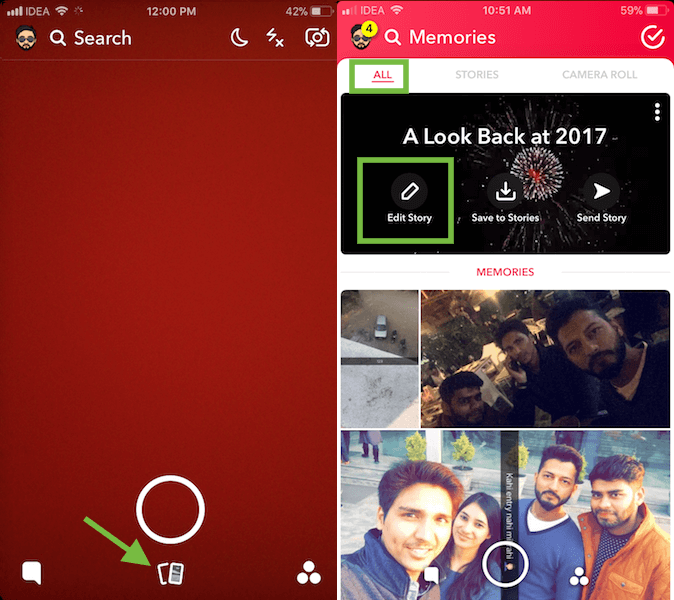 See Your Year In Review on Snapchat