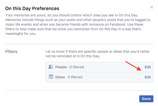 Stop Facebook from showing bad memories from certain friends and dates