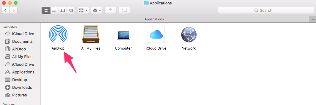 Add AirDrop Folder to Dock on Mac