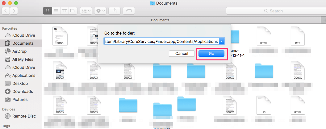 Add AirDrop folder to Mac's Dock