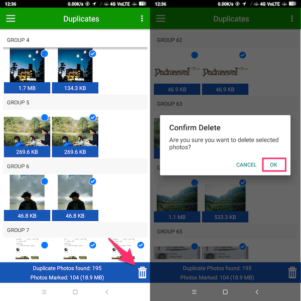 App to delete duplicate photos on Android