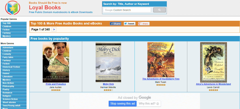 Audible alternative sites - 1 Loyal Books