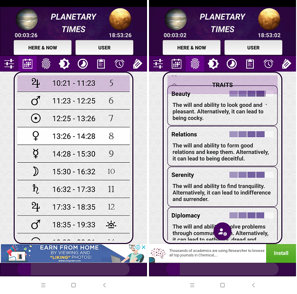 Best astrology app for android -Planetary times
