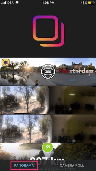 Crop Panorama for Instagram iOS