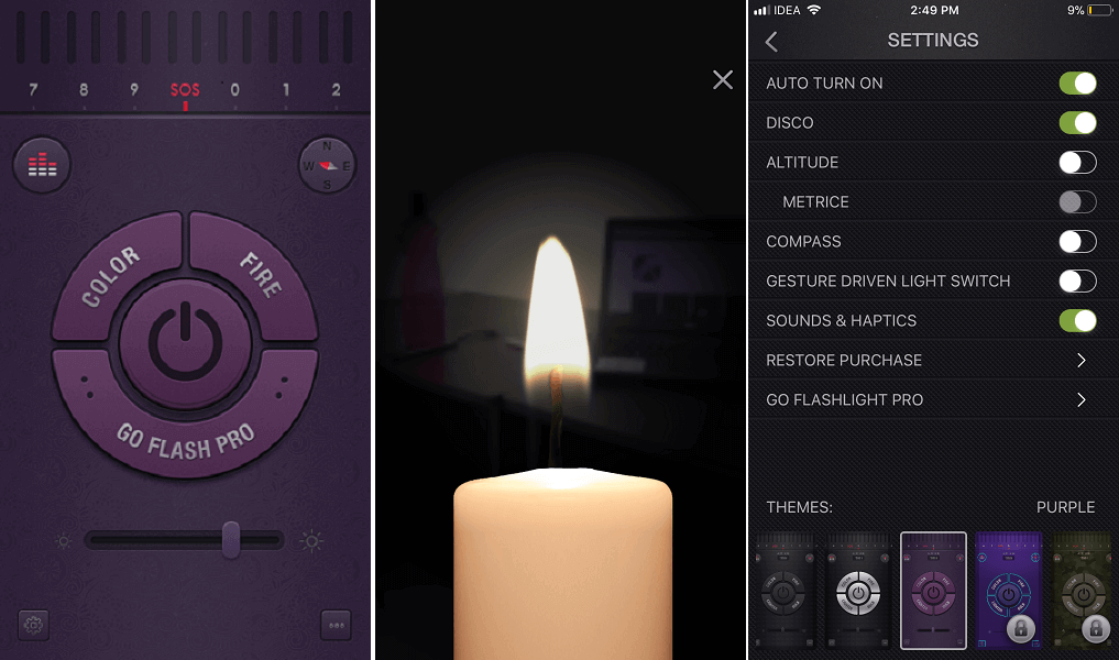 Flashlight app for iPhone , iPod and iPad