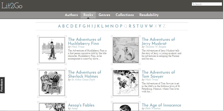 Website alternative to Audible - 1 Lit2go