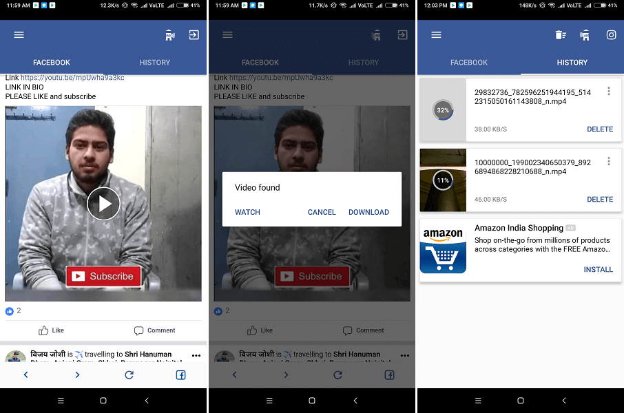 Inshot Video Downloader for Facebook