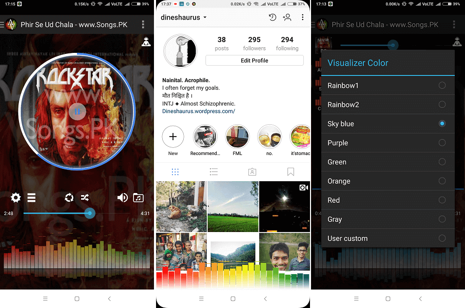 Audio visualizer and music player - Anytime Visualizer