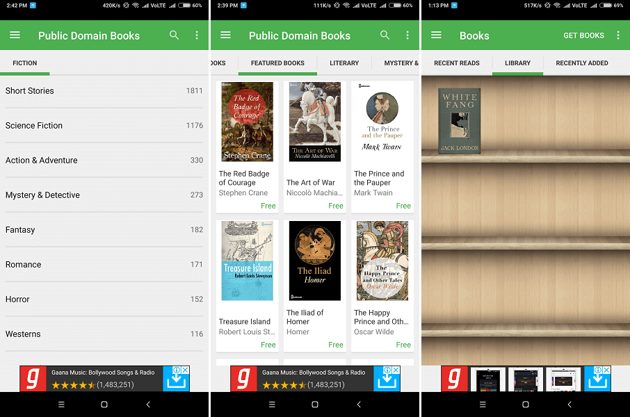 Best Android for downloading eBooks -Aldiko Book Reader