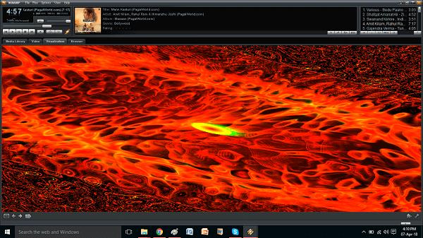 Best Music visualizer PC windows skin - Milkdrop 2
