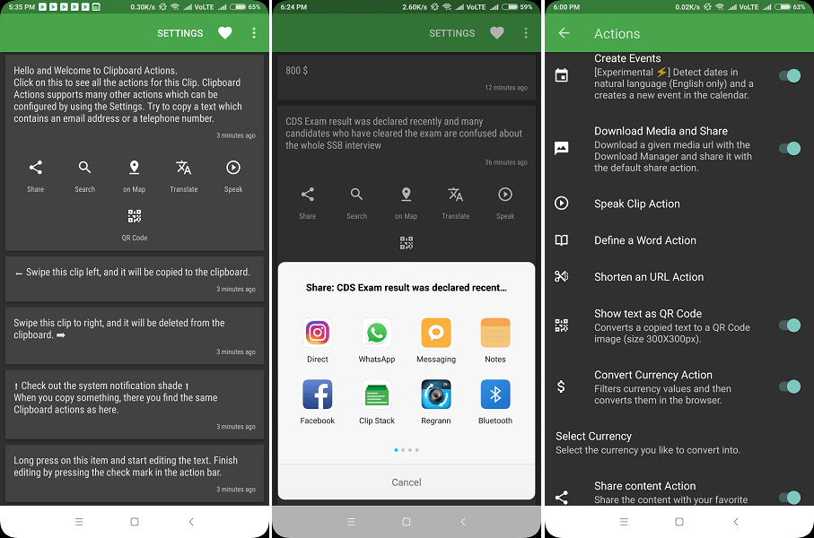Best android clipboard manager - Clipboard Actions