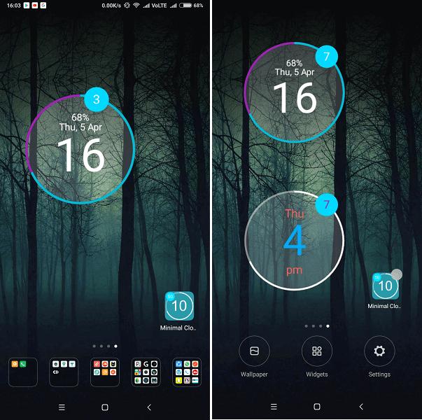 Free clock widget android - Minimal Clock