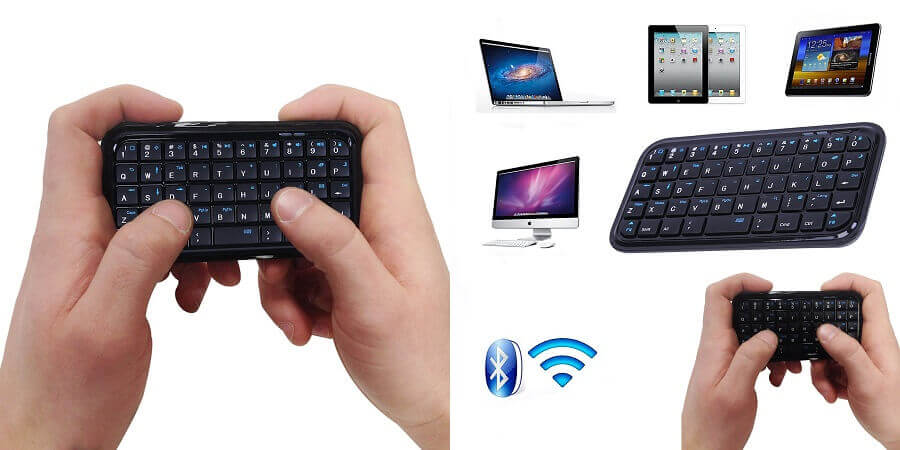 HDE bluetooth 3.0 Best smallest keyboard for phones and tablets