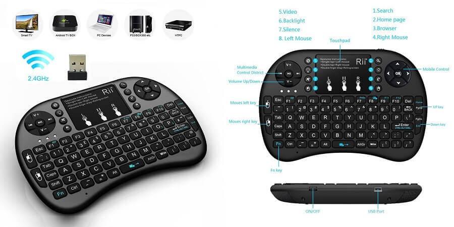 Rii i8 Mini wireless keyboard with touchpad