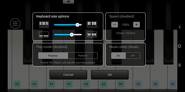 best piano apps for Android - Pianist HD Piano + (2a)