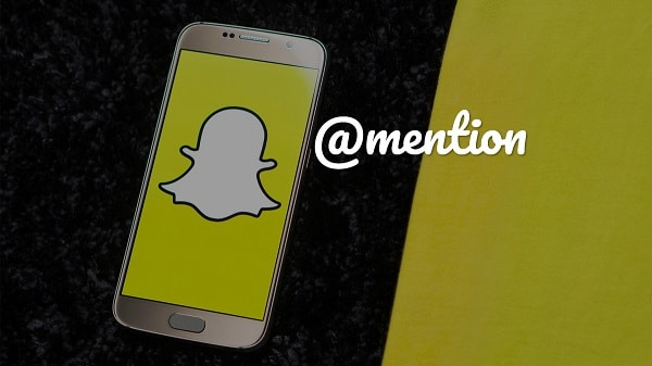 mention someone in your snapchat story