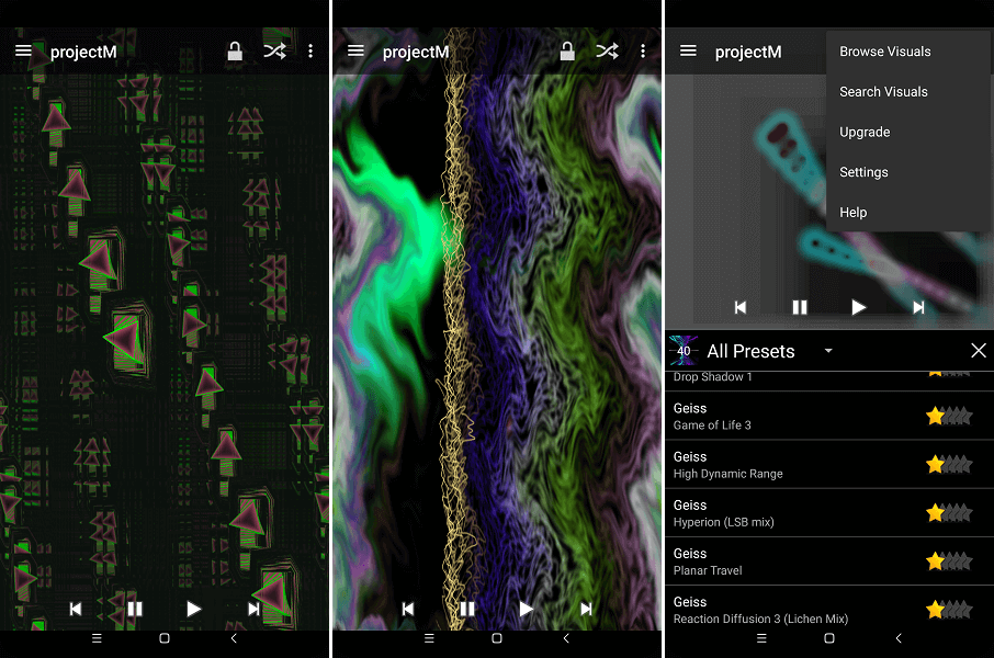 projectM Music Visualizer - android free download