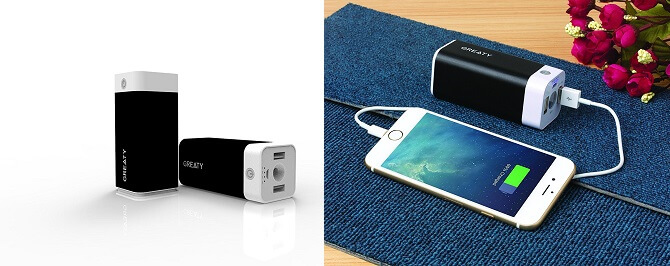 Greaty portable charger - smallest power bank