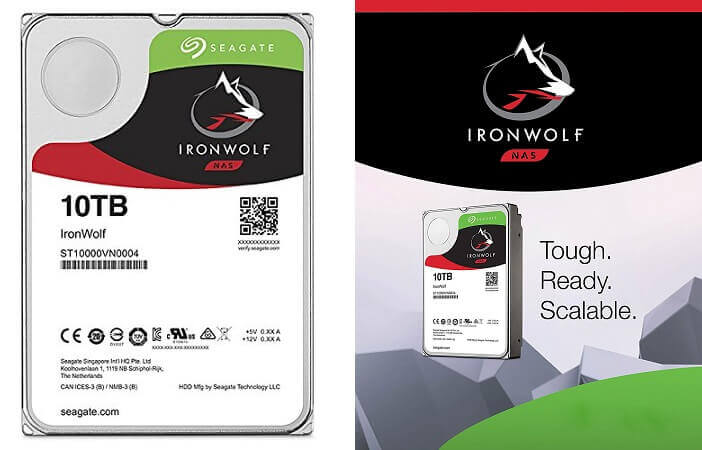 3. Seagate 10 TB Iron Wolf- biggest Internal Hard Drivefor PC
