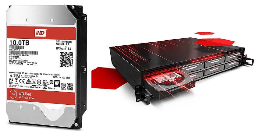5. Best large hard drive - WD Red 10TB NAS internal Hard Disk Drive