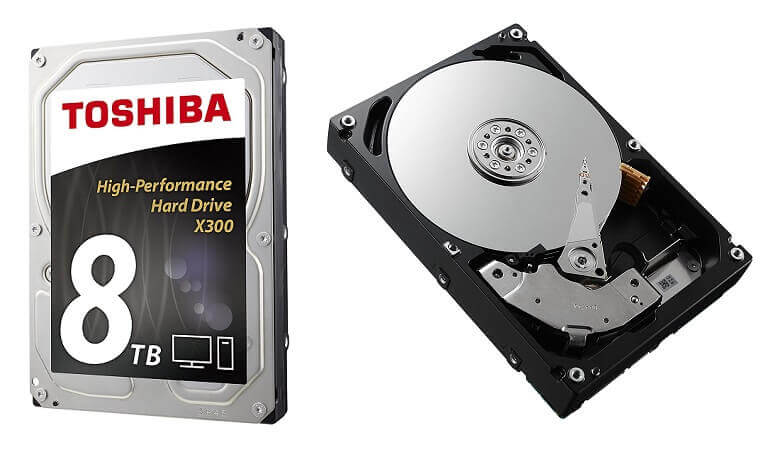 7.Toshiba X300 8TB Hard drive Largest NAS hard drive