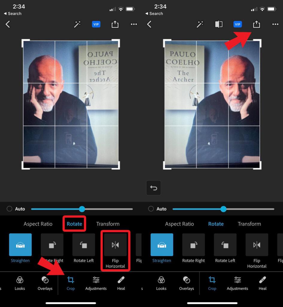 Flip Photos Using Photoshop Express