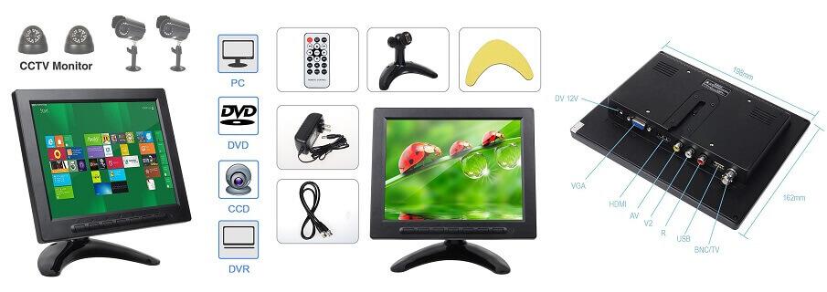 ALON 8 inch mini LCD Monitor - smallest monitor for PC