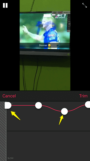 convert video to timelapse on iPhone