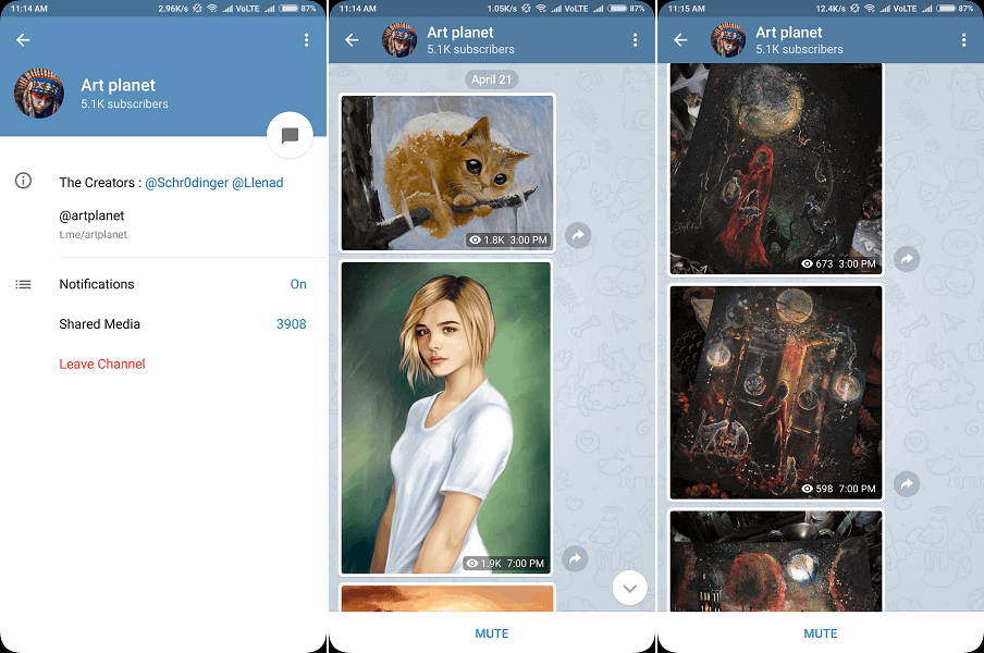 Art Planet - Best telegram channel for Paintings and drawings