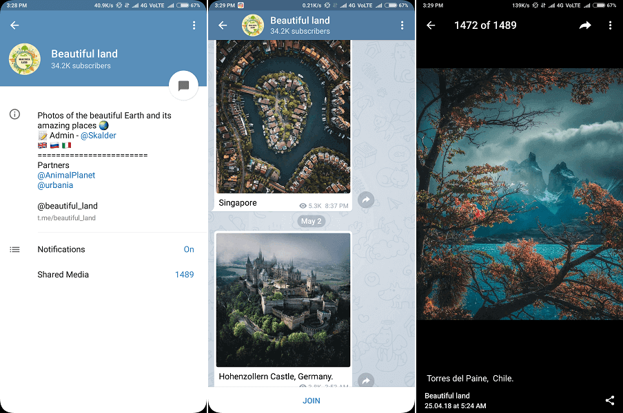 Best telegram channel for pictures - Beautiful Land