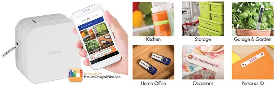 Brother P-Touch Cube Smartphone Label Maker - smallest label printer