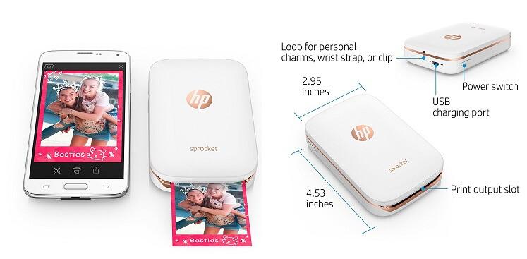 HP Sprocket X7N07A - Smallest Photo Printer