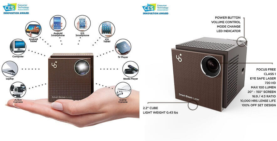 KDCUSA UO Smart Beam Laser - Smallest portable mini projector