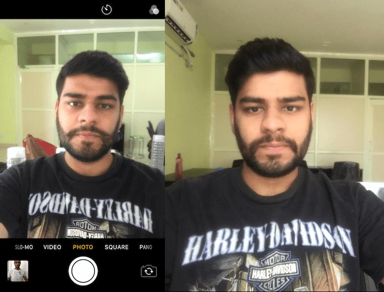 Mirror vs Actual Selfie iPhone