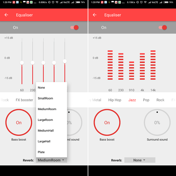 Smallest Music Equalizer - Android Play Store