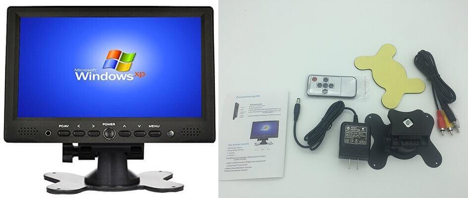 Smallest monitor for PC - Lancevon- 7 inch Small Portable HDMI Monitor