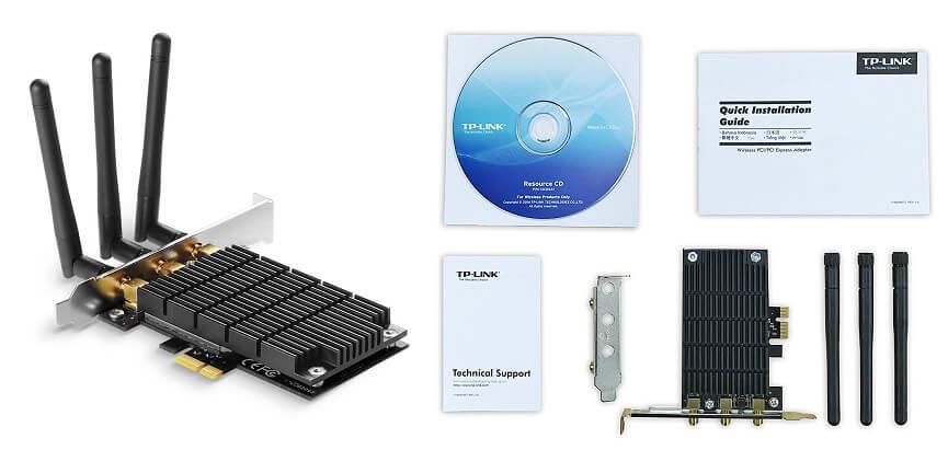 TP-Link Archer T9E AC1900 Wireless WiFi PCIe - best Wi-Fi adapters for desktop