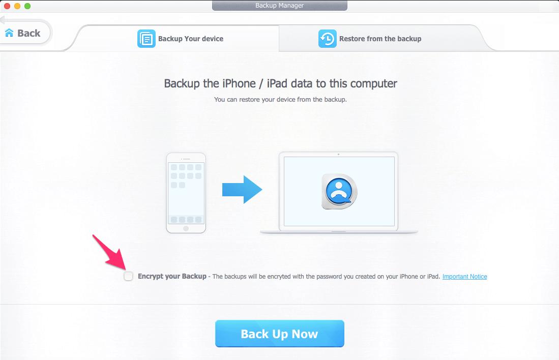 Take Encrypted iPhone backup