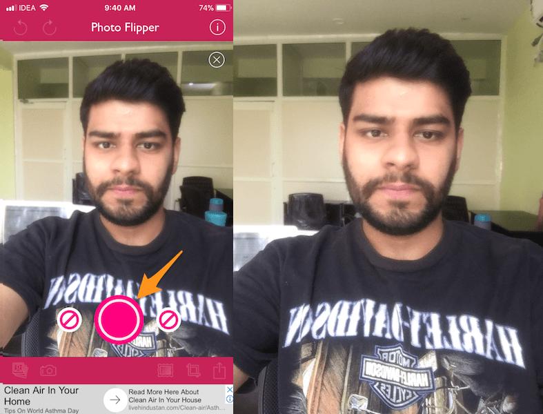 Take Mirror Selfies on iPhone