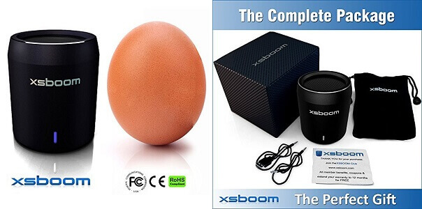 XSBOOM smallest Mini Bluetooth Speaker with headphone jack
