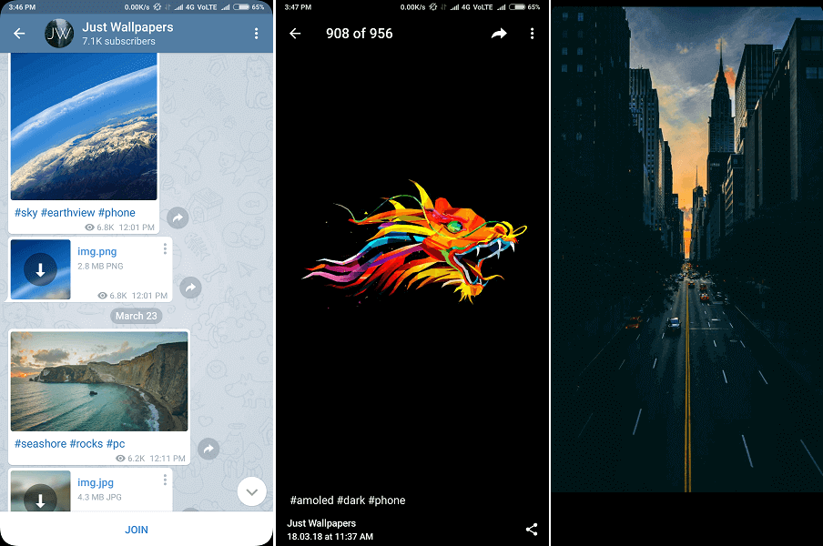 best telegram channel for HD wallpapers - Just Wallpapers