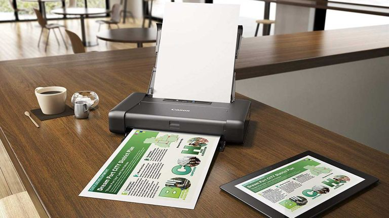 A small printer on a table