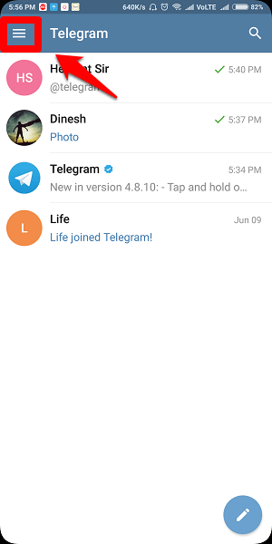 How to disable last seen on telegram