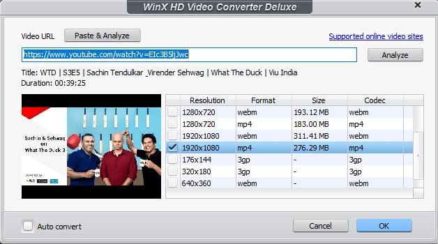 WinX HD Video Converter Deluxe review - Download online videos