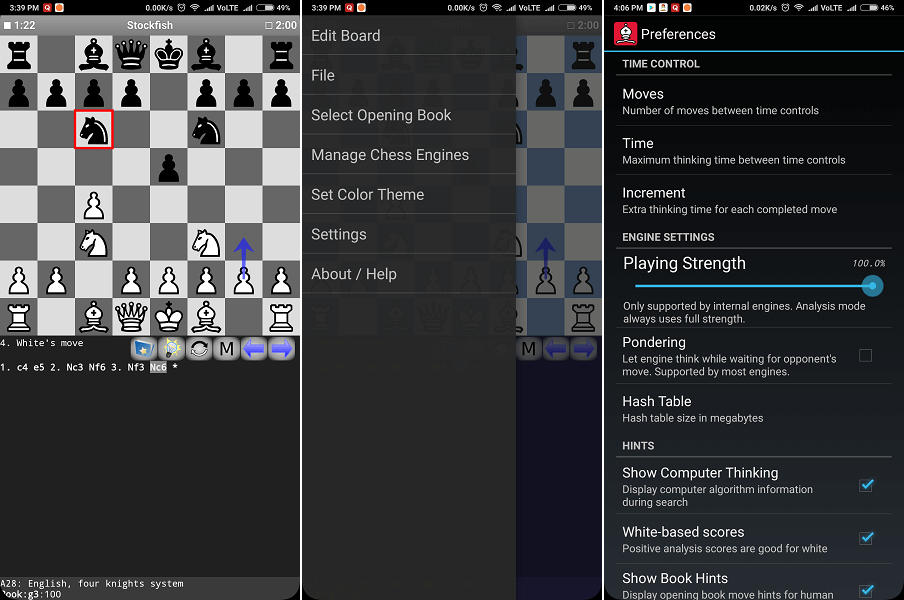 Droid Fish - Stock Fish chess app