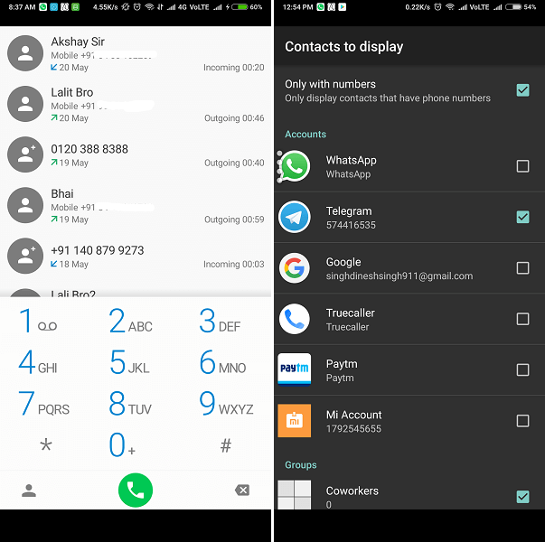 ExDialer & Contacts -smallest free android dialer app