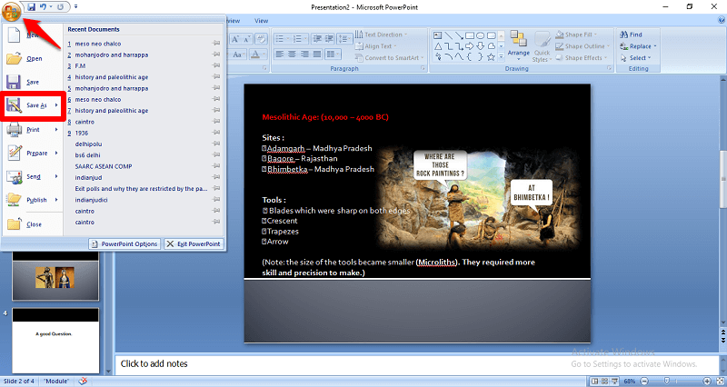 How to convert powerpoint presentation to gif