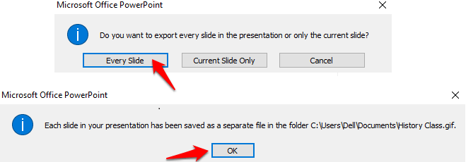 How to make GIF in powerpoint