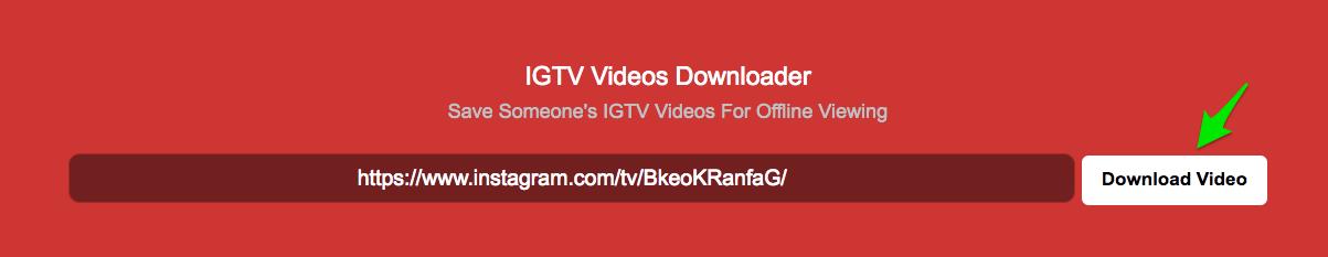 IGTV Downloader web app