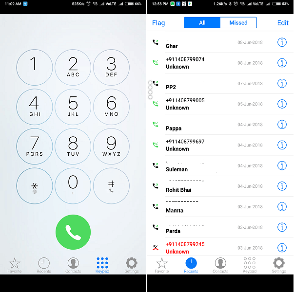OS9 Phone Dialer - ios dialer for android
